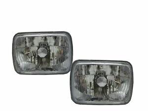 GL-10 1988-1989 Sedan 4D Crystal Headlight Chrome for SUBARU