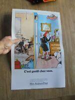 Ancienne Affiche Office HLM Illustrée Frank Margerin en 1988 / Solex Vélosolex