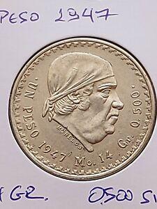 Mexico 1 peso, 1947  -   Silver 0.500