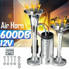 12v 600db Dual Trumpets Super Loud Car Electric Horn Truck Boat Train Speaker