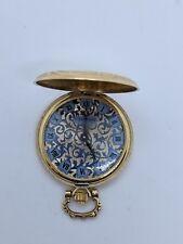 LeeMors 14K Yellow Gold Pocket Watch - Mechanical Wind - 34mm Pocket Watch