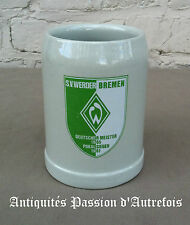 B2016101 - Chope en grès - football Allemand - S.V.WERDER  BREMEN