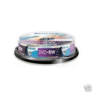 Philips DVD-RW 4,7GB 120Min 4x wiederbeschreibbar Rohlinge Spindel