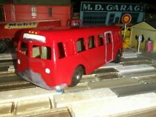 """LondonToy No.57,5.25"""" long ,City Bus Red Canada restored 1940-50's Black Tires *"""