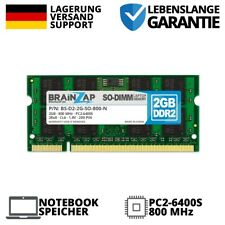 2GB DDR2 RAM SO-DIMM PC2-6400S 2Rx8 800 MHz 1.8V Notebook Arbeitsspeicher CL6