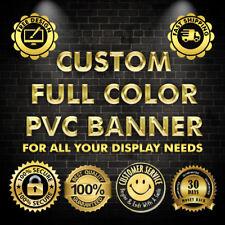 Full custom Vinyl Banner 6' x 1.5' Ft with free design and HEM and Grommets