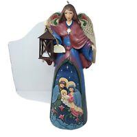 "Nativity Scene Christmas Angel and Holy Family 20"" Tall New Jim Shore 6003362"