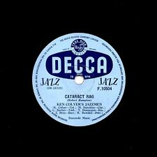 KEN COLYER'S JAZZMEN -BARBER, DONEGAN  78 CATARCT RAG / EARLY HOURS DECCA F10504