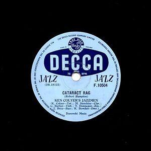 KEN COLYER'S JAZZMEN -barber,Donegan 78 Catarct' Rag ' / Early Hours Decca