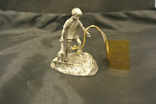 Classic Winnie the Pooh Christopher Robin Hudson PEWTER figurine statue 4831