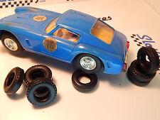 8 urethane tyres FERRARI BERLINETTA slotcar Scalextric-IRL