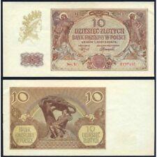 POLAND  10 Zlotych 1940 AU/UNC P 94