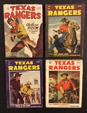 4 Vintage TEXAS RANGERS PULP Magazines 1950 Western Stories Better Publications