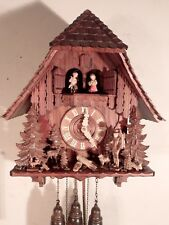 Outstanding 8 Day German Chalet Style Musical Cuckoo Clock w/ Child Dancers Etc.