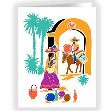 Adobe Village Life Southwest Theme Note cards- 18 Boxed  - 14133a