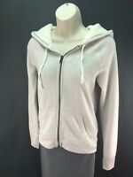 Women's American Eagle Cream Beige Fleece Lined Hood Full Zip Hoodie Size Small