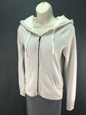 Women's American Eagle Cream Beige Long Sleeve Full Zip Hoodie Size S Small
