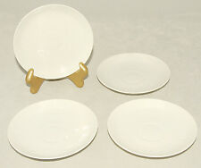 Royal Copenhagen - White - Textured / Embossed Design - Saucer Plates *Set of 4