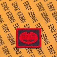 US Army CMB Combat Medic Badge LEGACY VETERANS Motorcycle wing patch