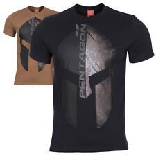 Pentagon Eternity Mens Tactical Military Army Spartan Helmet Graphic T-Shirt NEW