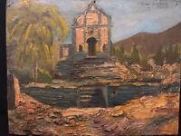 Huile sur Carton Peinture 1927 Antique French Painting A identifier