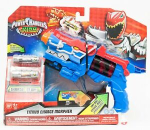 Power Rangers Dino Super Charge BLUE TITANO CHARGE MORPHER New Damaged Box 2016