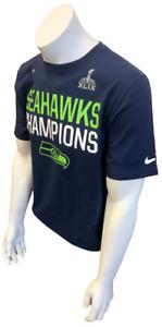 Nike Men's Error Seattle Seahawks Champions Super Bowl XLIX Navy NFL Shirt