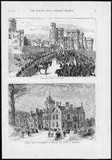 1879 - Antique Print ROYALTY Eton Boys Bride Bagshot House Connaught Duke  (200)