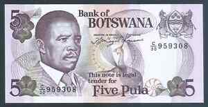 BOTSWANA 11a, 5 Pula, ND(1992) Uncirculated