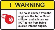 WARNING TURBO engie noice  Decal Vinyl JDM RACING DRIFT car sticker -  #J-18