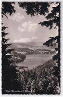 Ansichtskarte Blick auf den Titisee im Hochschwarzwald - schwarz/weiß