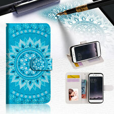 BLUE AZTEC TRIBAL Wallet TPU Case Cover For OPPO F1S-- A001