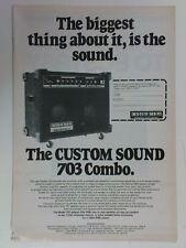 retro magazine advert 1980 CUSTOM SOUND 703 combo