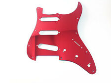 SSS Guitar Pickguard Fits Fender/Charvel with Mirror Red