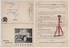 """#CART. PRESENTAZIONE DEL crick. """"TITANUS""""...PER AUTO/ cart. doppia"""