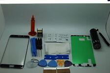 SAMSUNG Galaxy S6 bordo PLUS BLU VETRO ANTERIORE, Kit di riparazione dello schermo, colla, Torcia