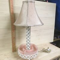 1950's Vintage Pink and White TV Light / Lamp Planter Combination