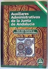 AUXILIARES ADMINISTRATIVOS JUNTA ANDALUCÍA TEST TEMARIO Y EXÁMENES COMENTADOS