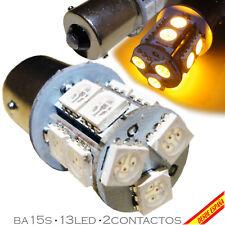1x BOMBILLA 13 LED SMD 5050 AMARILLO BA15S 1156 P21W COCHE INTERMITENTE