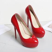 16cm platform HOT women's pumps large size 9.5-11.5 mens patent leather shoes M5