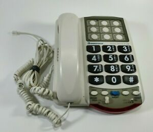 Ameriphone Photo Phone P-300 Telephone Loud Ringer Flash Large Landline