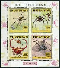 Burundi 2014 MNH Spiders Spider 4v M/S Insects Stamps
