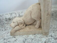 Resin Dog Bookend with Training Book -