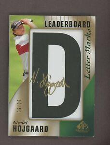 2021 SP Game Used Golf Leaderboard Letter Marks Nicolai Hojgaard AUTO /20