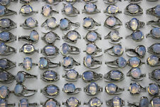 Job Lots 36pcs Nature Opal Stone Clear Silver P Women Classic Party Gift Rings