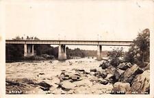 RPPC, Black River Falls, WI Wisconsin  BRIDGE OVER BLACK RIVER  c1930's Postcard