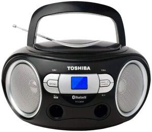 Toshiba Wireless Bluetooth Boombox Speaker Portable CD Boom Box with FM Radio Remote /& LED Lights TY-CWU510