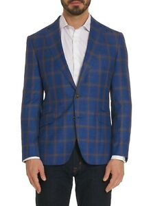 Robert Graham Norby Checkered Print Sport Coat, Tailored Fit, Blue