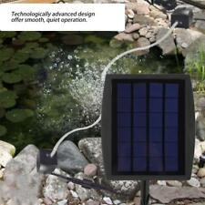 2 Air Stone Aerator Pond Water Oxygenator Solar Powered Oxygen Pump Fish Tank