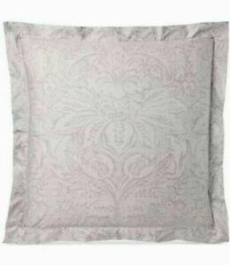 Ralph Lauren Euro Pillow Sham Fleur Du Roi / Gray & Silver 100% Cotton MSRP $130